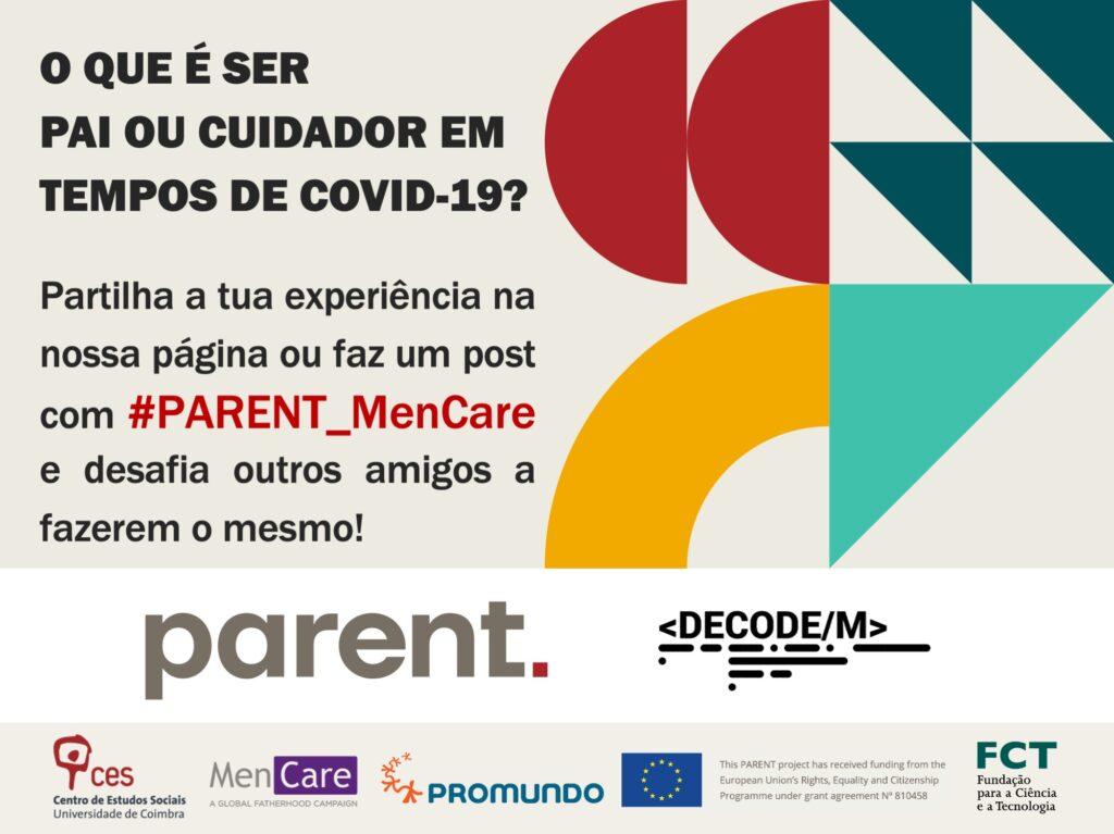 ¿Qué es ser padre o cuidador en tiempos de COVID-19? Comparte tu experiencia en nuestra página o haz un post con #Parent_MenCare y desafía a otros amigos a que hagan lo mismo