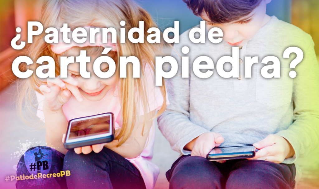 Cartel paternidades de cartón piedra para el #PatiodeRecreoPB